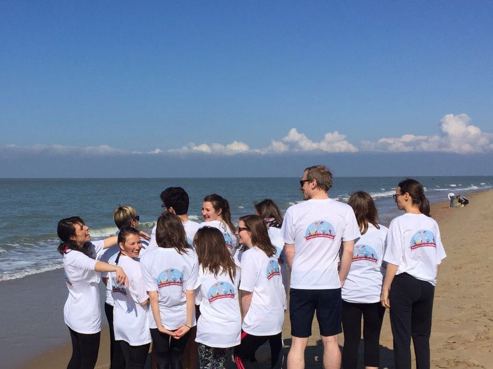 The Grayling team on the beach