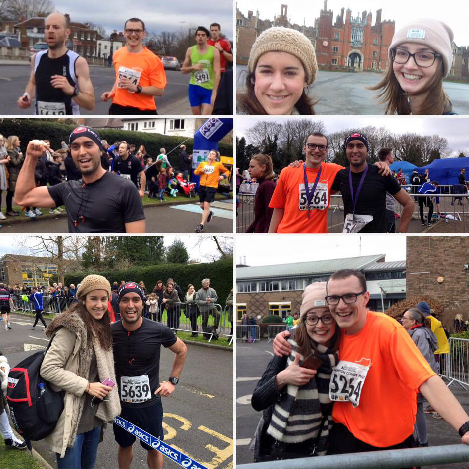 Photographs throughout the day of the half marathon