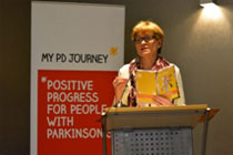 Vice-President of the European Parliament Mairead McGuiness speaking at the My PD Journey coalition event in April 2015