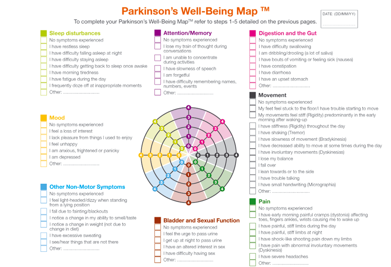 The Parkinson's Well-Being Map