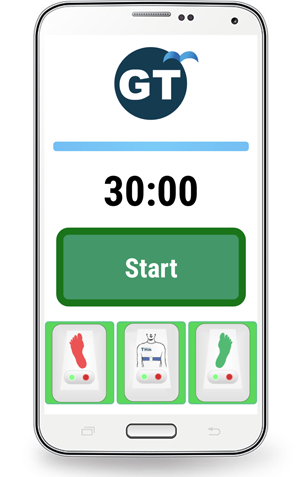 The Gait Tutor mobile app